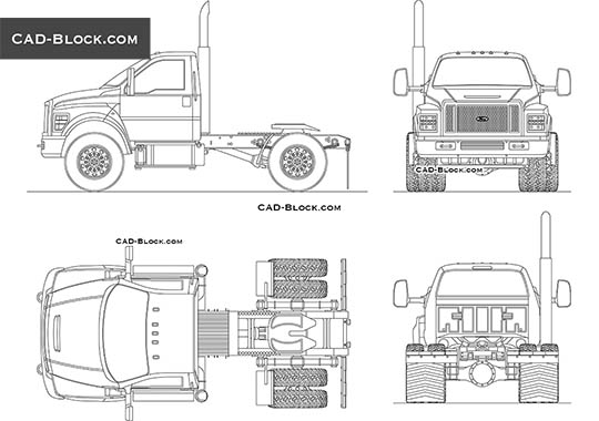 Ford F-750 buy AutoCAD Blocks