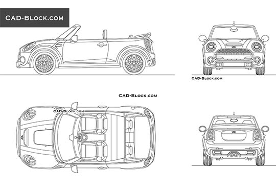 MINI Cooper Convertible - free CAD file