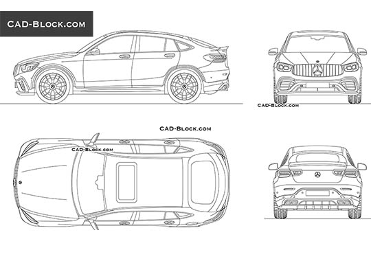 Mercedes-Benz GLC 63 AMG Coupe buy AutoCAD Blocks