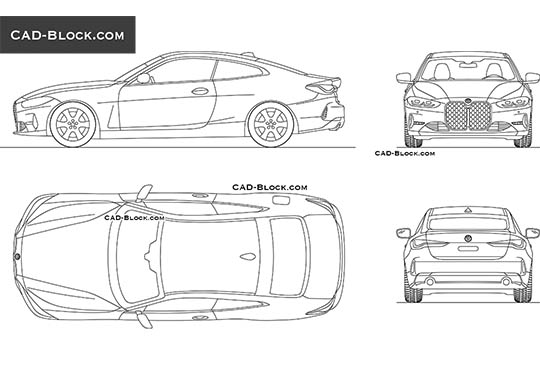 BMW 4 Series Coupe - download free CAD Block