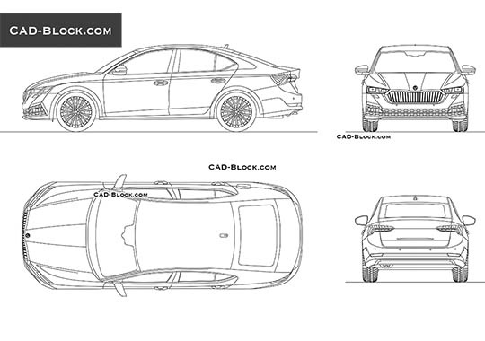 Skoda Octavia buy AutoCAD Blocks