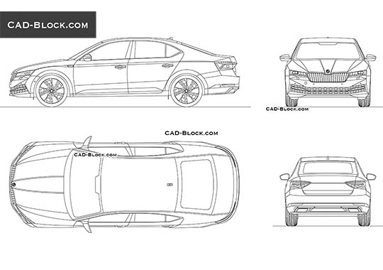 Skoda Superb buy AutoCAD Blocks