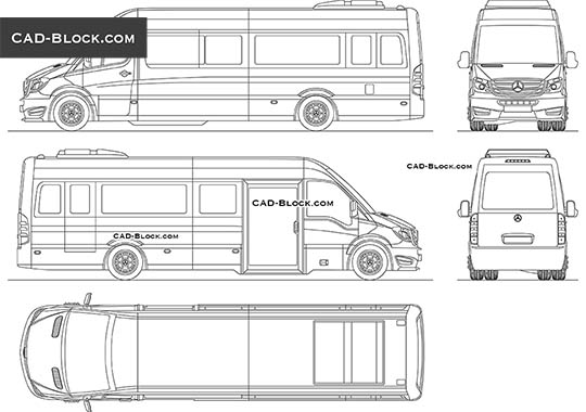 Mercedes-Benz Sprinter CUBY - download free CAD Block