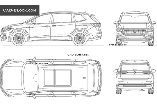 Volkswagen Viloran buy AutoCAD Blocks