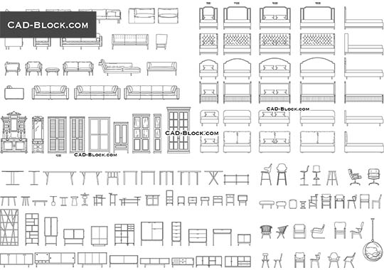 Furniture Big Set - download free CAD Block