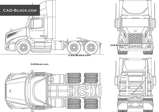 Volvo VNL 300 - download free CAD Block