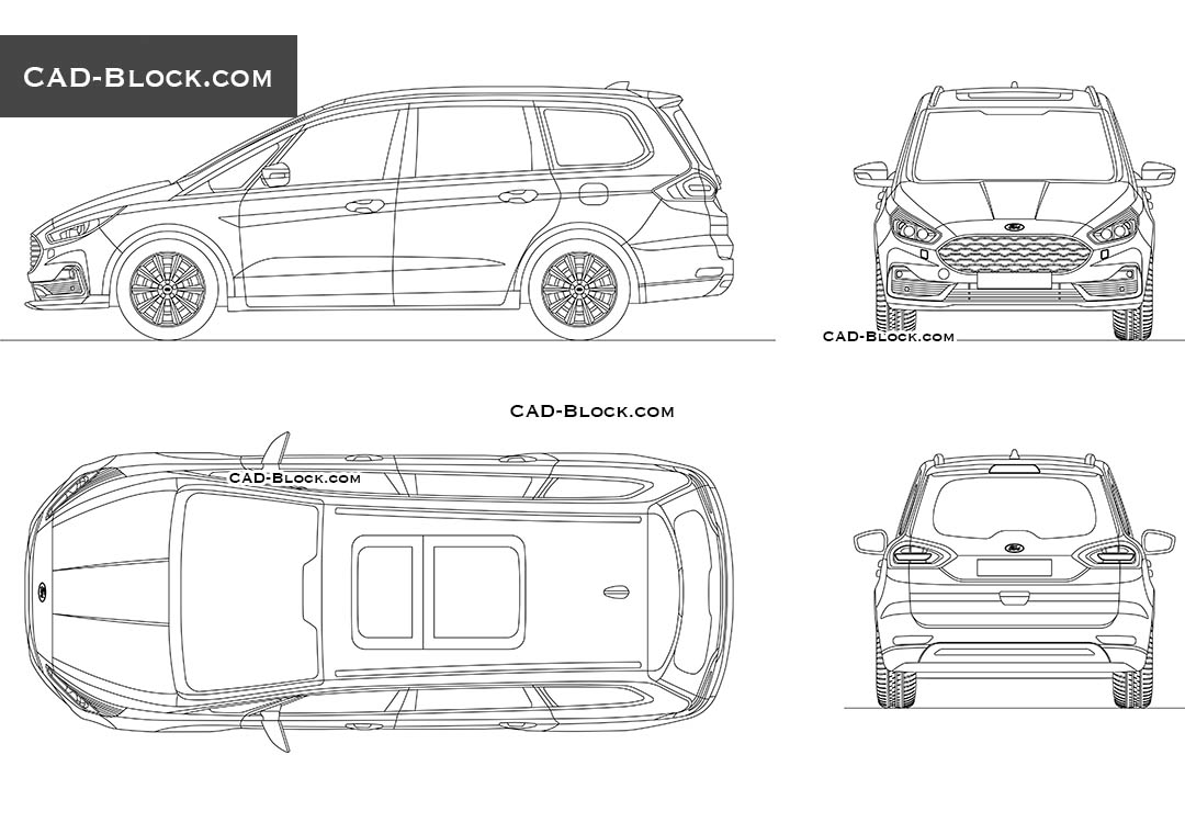 Ford Galaxy - CAD Blocks, AutoCAD file