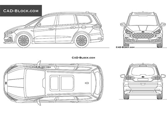 Ford Galaxy buy AutoCAD Blocks