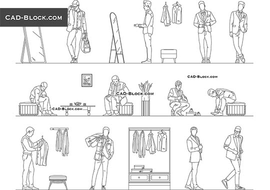 Men's Fitting Room buy AutoCAD Blocks