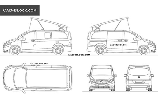 Mercedes-Benz Marco Polo - download free CAD Block