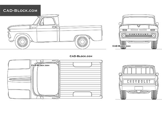 Chevrolet C10 (K10) - download free CAD Block