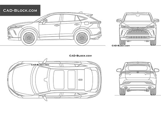 Toyota Venza - download free CAD Block