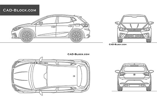 SEAT Ibiza buy AutoCAD Blocks