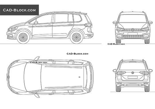Volkswagen Touran buy AutoCAD Blocks