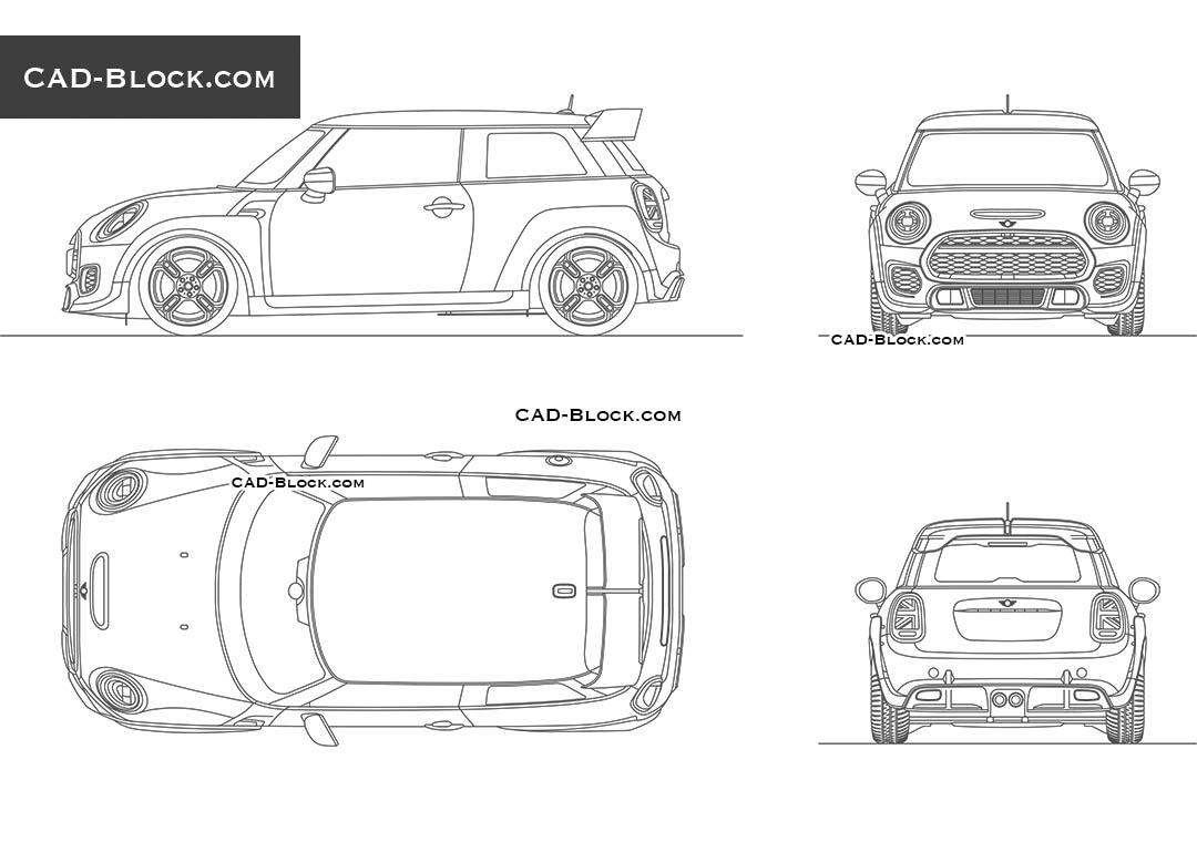 MINI John Cooper Works - CAD Blocks, AutoCAD file