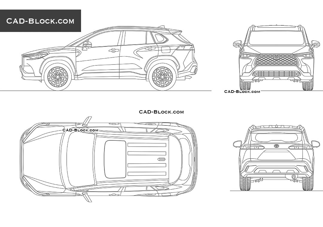 Toyota Corolla Cross - CAD Blocks, AutoCAD file