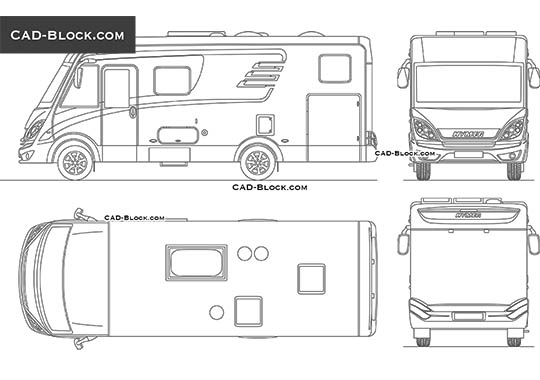 Hymer Camper - download free CAD Block