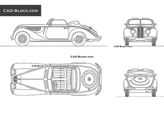 BMW 327 (1938) - free CAD file