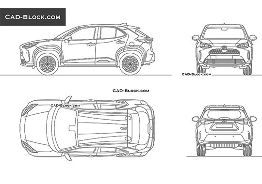 Toyota Yaris Cross - download free CAD Block
