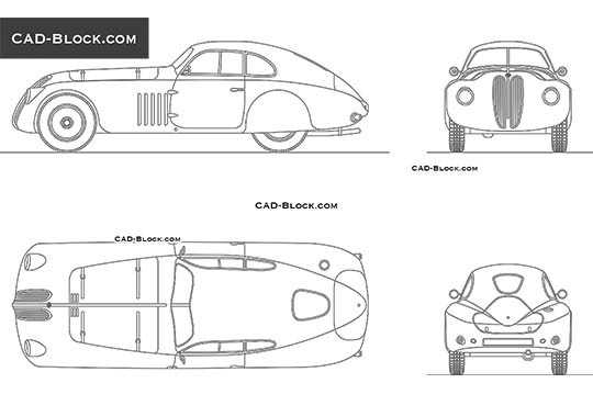 BMW 328 MM Touring Berlinetta (1939) buy AutoCAD Blocks