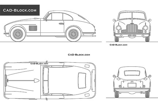 Aston Martin DB2 (1950) buy AutoCAD Blocks