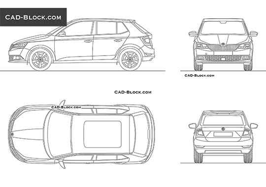 Skoda Fabia (2018) - download free CAD Block