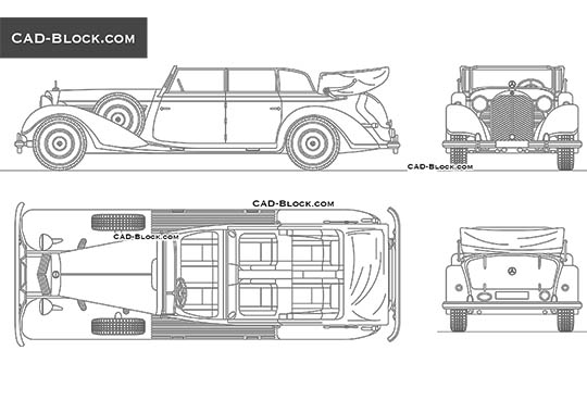 Mercedes-Benz 770K Cabriolet buy AutoCAD Blocks