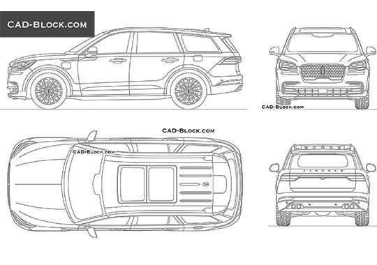 Lincoln Aviator - download free CAD Block