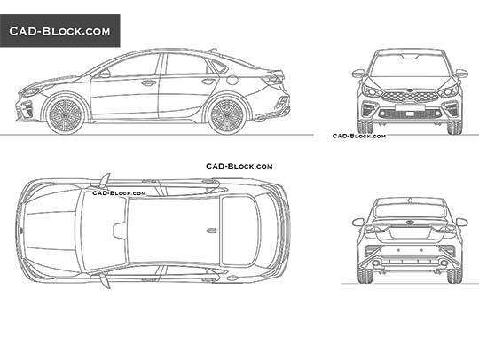 Kia Forte - download free CAD Block