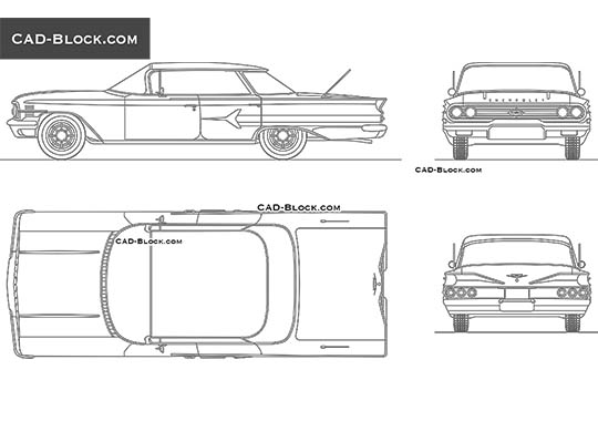 Chevrolet Impala (1960) - download free CAD Block