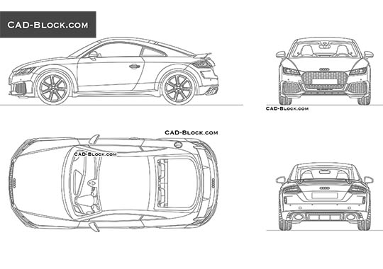 Audi TT RS Coupe - download free CAD Block
