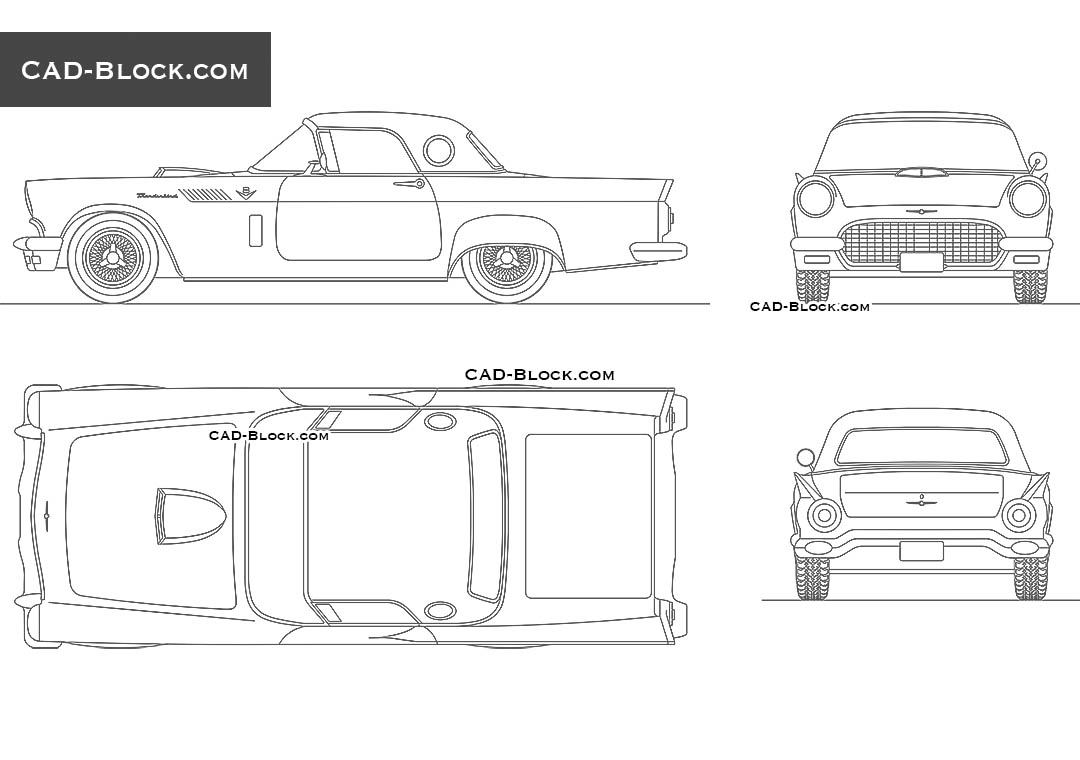Ford Thunderbird (1957) - CAD Blocks, AutoCAD file